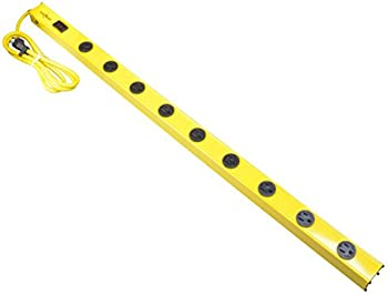 Yellow Jacket 9-Outlet Metal Power Strip