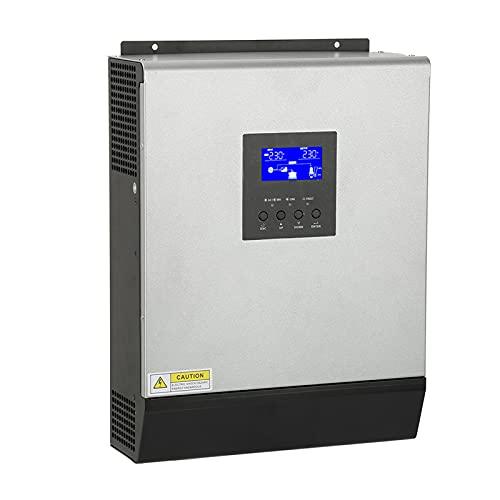Inversor de alta frecuencia, inversor híbrido Cargador multifuncional Controlador solar integrado 3KVA 2400W PS-3K para electrodomésticos Batería AC/Cargador solar