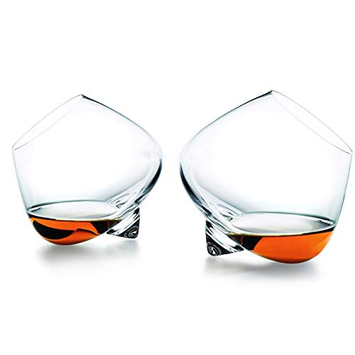 Vidrio Girar Whisky Glass Top Belly Cigar Whisky Cóctel Beber Copa De Vino Vaso Bar Inferior Gafas Caneca Brandy