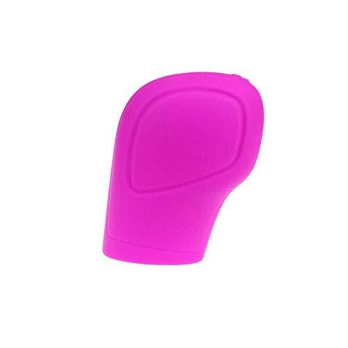 Without brand HHUI-DANGGAN, 1pc Universal Manual Car Handbrake Sleeve Silicone Gear Head Shift Knob Cover Color Shift Collar Handbrake Grip (Color : Pink)