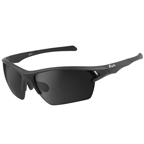 Icecube JET II Neo Sport-Sonnenbrille mit 100% UV-Schutz, super leicht, geeignet für Fahren, Angeln, Radfahren und andere Outdoor-Aktivitäten, verstellbares Nasenpolster und Schläfe Gr. L, matte black