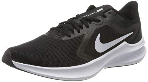 NIKE Downshifter 10, Zapatillas Hombre, Black White Anthracite, 44.5 EU