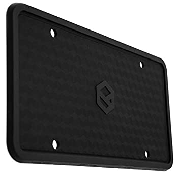 Rightcar Solutions Flawless Silicone License Plate Frame - Rust-Proof Rattle-Proof Weather-Proof - Black