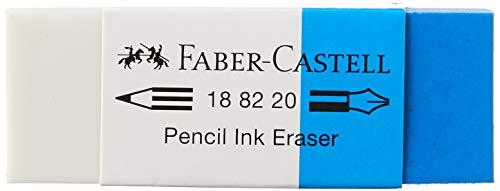 Faber-Castell 188220 - Radierer Kombi 7082-20, Kunststoff, weiß - blau