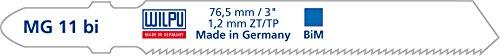 WILPU Stichsägeblatt MG 11 bi mit Einnockenschaft- / T-Schaft-Aufnahme, 25 Stück