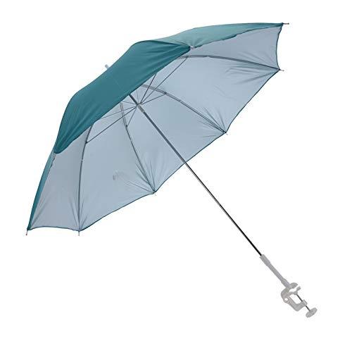 Meinposten. Sonnenschirm für Buggy Sonnenliege Balkonschirm Kinderwagen Ø 100 cm UV Schutz Buggyschirm Gartenliege Geländerschirm (Türkis)