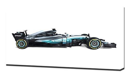 2017 Formula1 Mercedes AMG F1 W08 V2 - Reproducción Lienzo - Arte Enmarcado Impresión De Lienzo