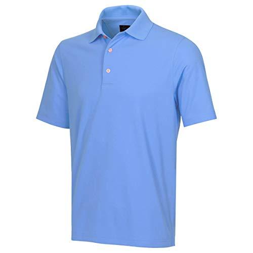 GREG NORMAN Polo de Golf Hommes Micro Piqué  Ordinaire  - Bleu Stream - M