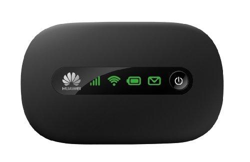Huawei E5220 Mobiler WiFi WLAN-Router (deutsche Version, bis zu 10 WLAN-Zugänge, 5s Boot-Zeit, HSPA+) schwarz