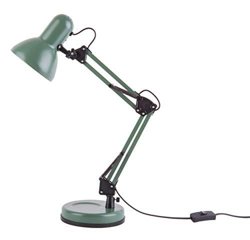 Present time - Lampe à poser fer verte mate HOBBY
