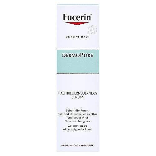 Eucerin Dermopure Hautbilderneuerndes Serum (1 x 40ml), Gesichtspflege für unreine Haut, reduziert Unreinheiten und sorgt für ein ebenmäßigeres Hautbild
