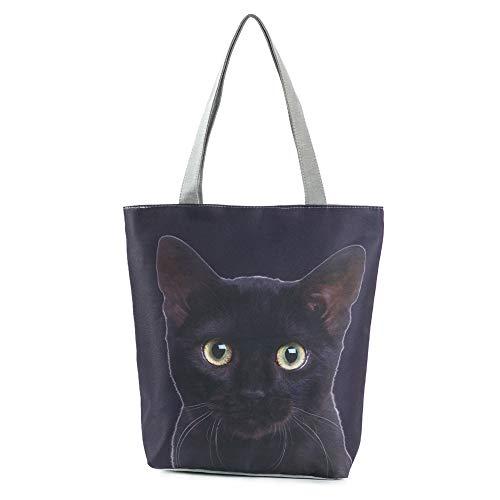 MoGist Strandtasche Damen Shopper Schultertasche Niedliches Hunde Katzen Muster Reise Einkaufstasche Tragetasche (Style2)