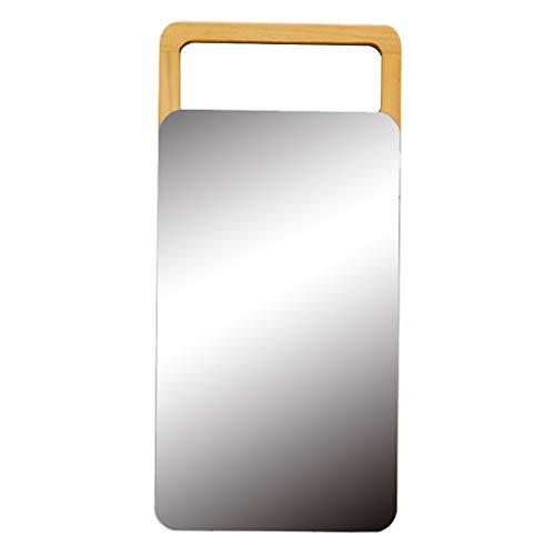 Miroir de maquillage- Miroir De Maquillage De Bureau Européen Miroir Simple Miroir De Coiffure En Bois Massif Portable Miroir De Bureau En Bois Pliable HD Beauté