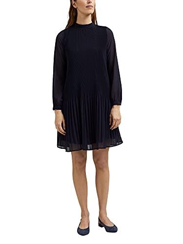 ESPRIT Collection Damen 031EO1E320 Kleid, 400/NAVY, 34