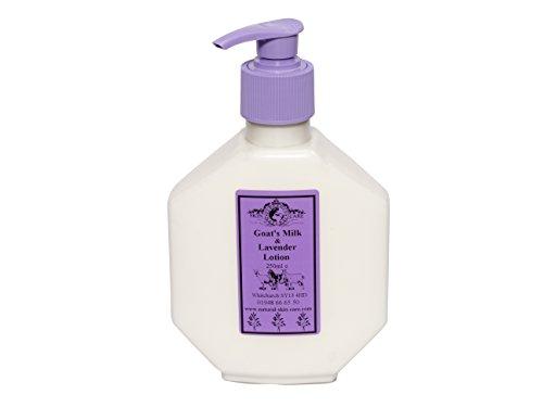 Lotion Lait de Chèvre & Lavande 250ml. Pour le psoriasis eczéma peau sèche Dermatite rosacée Sensible, fabriqué par Elegance Natural Skin Care en Grande-Bretagne