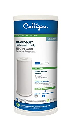 """Culligan RFC-BBSA 25 Micron Whole House Water Filter for Sediment, 10"""" x 4.5"""" Compatible Replacement for FXHTC, W50PEHD, GXWH40L, GXWH35F, GNWH38S, WFHD13001 (Pack of 1)"""