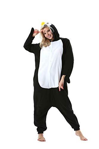 EUFANCE Onesies Pijamas Animale Disfraz Traje Unisexo Adulto Mujer Invierno Cosplay Halloween y Navidad