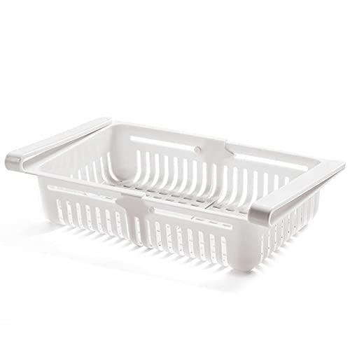 Organizador de frigorífico Compartimiento Refrigerador Caja de Almacenamiento Alimentos rectangulares Cajón de plástico Caja de Almacenamiento de cajones for Cocina congelado