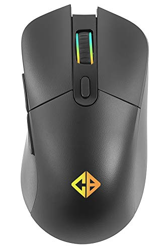 Cosmic Byte Hyperion Wireless + Wired Dual Mode Gaming Mouse, Rechargeable, Pixart 3325 Sensor, RGB LED, Software, Upto 10000 DPI (Black)