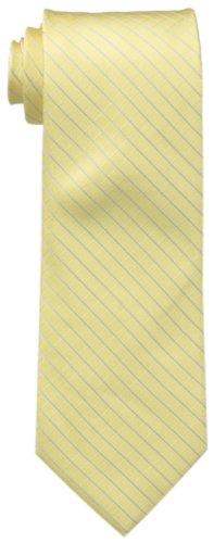 Calvin Klein Men's Etched Windowpane A Tie, Yellow, Regular