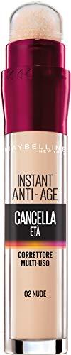 Maybelline New York Correttore Liquido Il Cancella Età, con Bacche di Goji e Haloxyl, Copre Occhiaie e Piccole Rughe, 02 Nude, 6,8 ml