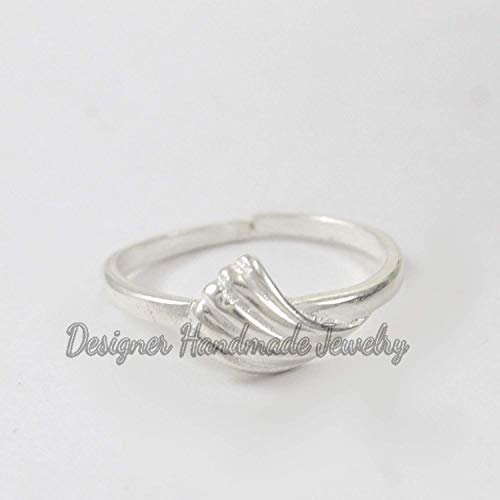 Large Simple Ring Womens Abstract Sterling Silver Ring Silver Jewelry Handmade Minimalist Ring Chunky Ring