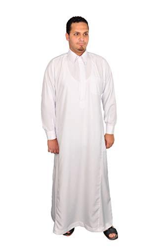 Egypt Bazar Egypt Bazar Herren-Kaftan im Saudi-Stil, weiß (3XL)