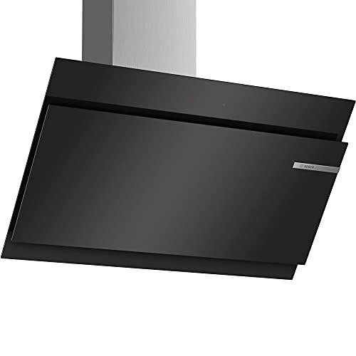 Bosch Serie 6 DWK97JM60 cappa aspirante 730 m³/h Cappa aspirante a parete Nero, Acciaio inossidabile A+