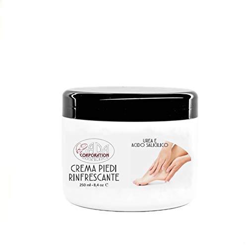 SADA Crema piedi rinfrescante con Urea e Acido Salicilico ad azione emolliente, idratante, tonificante  250 Ml