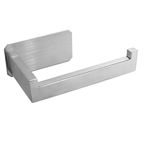 MaxHold Porta carta igienica - Autoadesivo - Non richiede fori - Acciaio inossidabile non arrugginisce mai - Portarotolo per bagno