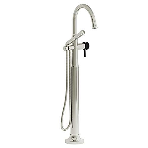 Fantastic Deal! Riobel MMRD39LPNBK 2-way Type T (thermostatic) coaxial floor-mount tub filler with h...