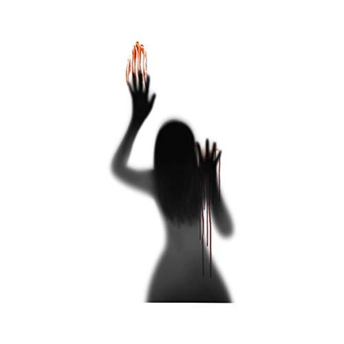KiMiLIKE Halloween Wand Aufkleber Horror Blut Handabdruck Tür Aufkleber Vampir Zombie Party Dekorationen Zubehör Wand Aufkleber Halloween Party Dekor Requisiten