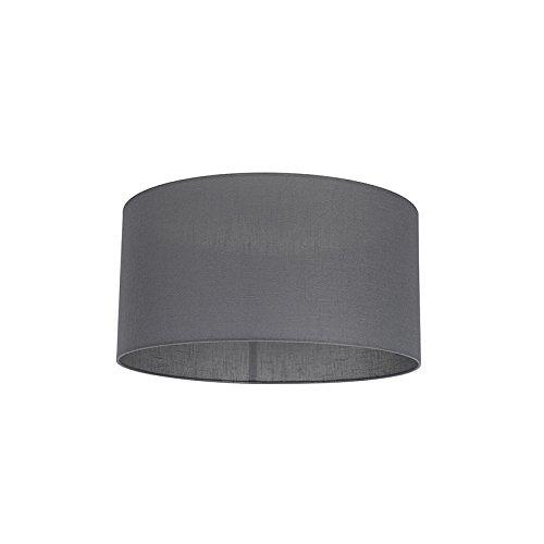 QAZQA Modern Polyester Lampenschirm 50/50/25 Zylinder dunkel-grau, Rund gerade Schirm Pendelleuchte,Schirm Stehleuchte