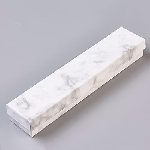 Yousiju Caja de joyería de mármol Collar Pulsera Anillos Caja de presentación de Embalaje de cartón Regalos Organizador de Almacenamiento de Joyas Soporte Rectángulo/Cuadrado (Size : Large)