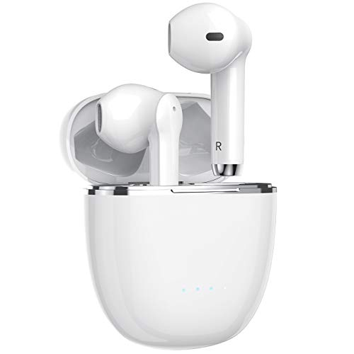 Miracase Bluetooth Kopfhörer, Kabelloser Ohrhörer TWS Bluetooth 5.0 Headset mit CVC 8.0 Geräuschisolierung für kristallklares Klangprofil, HiFi Stereo Sound, mit 40 integriertem Mikrofon