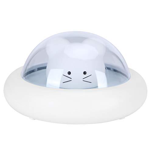 Sdfafrreg Luz de Noche OVNI, Touch No Dazzling 3 Niveles de Brillo Lámpara de Mesa, para dormitorios, cafés, restaurantes, Salas de Estar(Blue)