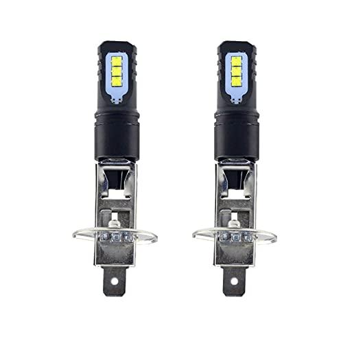 youyu6-2o521 Kit de Bombillas LED para Coche 2 unids H1 LED luz de Niebla Bombilla 6000K Super Brillante Blanco Luces de ejecución diurnas 12V al por Mayor para reemplazar la lámpara