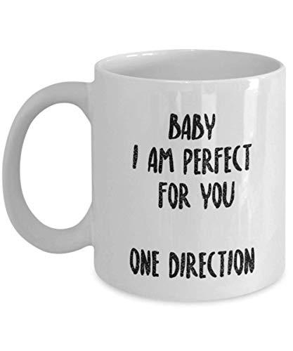 Hermosa taza de café 1D One Direction - Regalos de Navidad One Direction - Cuenta con una impresionante imagen de Niall Horan, Zayn Malik, Liam Payne