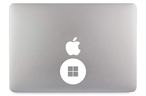 Windows 10 Logo Kreis Apple MacBook Air Pro Aufkleber Skin Decal Sticker Vinyl (13
