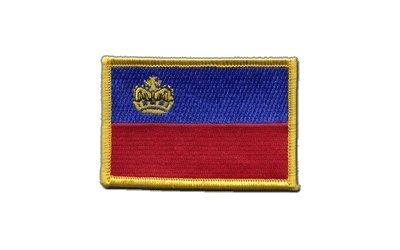 Aufnäher Patch Flagge Liechtenstein - 8 x 6 cm
