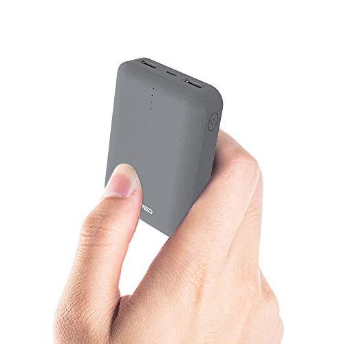 Ockered Powerbank 10000mAh, Caricabatterie Portatile, Ultra-Compact Mini Batteria Esterna Carica Veloce Batteria Portatile con 2 USB Porte da 5V/2.4A per Samsung, Huawei, Xiaomi e Altri Smartphone.