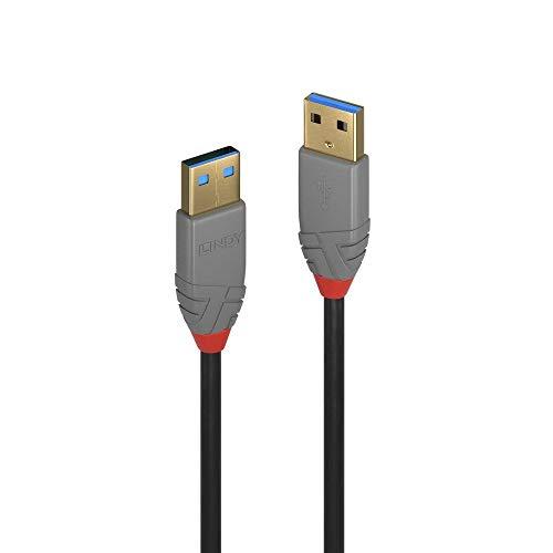 LINDY USB 3.0 Kabel Typ A anthra Line 5m