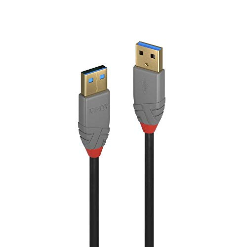 LINDY USB 3.0 Kabel Typ A Anthra Line 5m