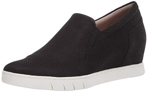 Naturalizer Women's Kaya Slip-on Sneaker, Black Nubuck, 10.5