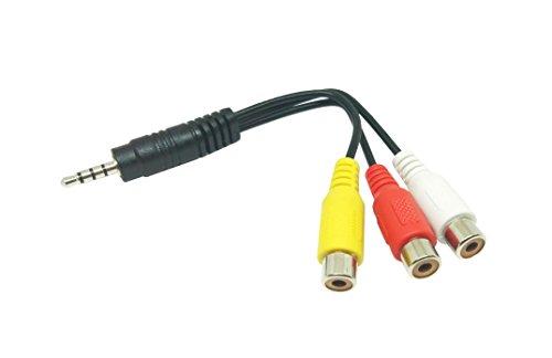 Xoro AV1 Audio/Video Adapterkabel (15 cm, ACC400518, geeignet für HRT 8719/8720/8724 Receiver + HTL/HTC Fernseher) schwarz