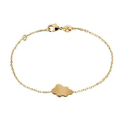 Rendez-vous RueParadis Paris Rue Paradis Bijoux - Bracelet Femme Plaqué Or - Bracelet Chaîne Nuage Nuba avec Métal Plaqué Or 18 Carats 3 Microns - Bijoux Femme - 18 cm