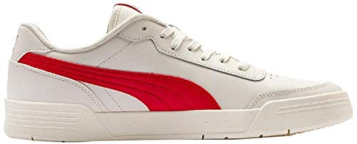 Puma Caracal Sneaker Unisex-Erwachsene, Weiß (Whisper White-High Risk Red), 46 EU