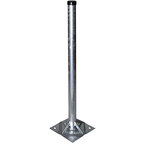 A.S.SAT Stahl Standfuß 100cm mit 20x20 cm Bodenplatte Rohr Ø 60mm verstrebt