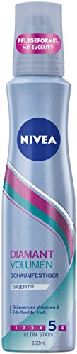 Nivea Diamant Volumen Schaumfestiger, Ultra Stark, 3er Pack (3 x 150 ml)