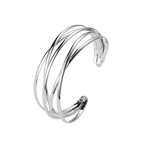 DSJTCH Mode Geometrische Goldhöhle Indian Stulpe-Armband-Armbänder for Frauen Adjustable öffnen weibliches Armband Armband Frauen Schmuck (Metal Color : 02white K 10954)